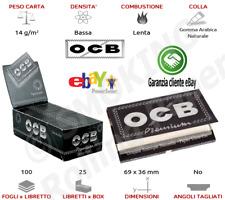 OCB NERE PREMIUM BLACK CARTINE CORTE DOPPIE DA 10  LIBRETTI  ✅