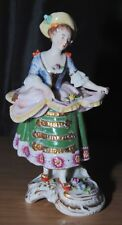 Chelsea Porcelain Antique Ladies With Flowers Figurine
