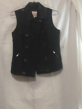 Women's  Faux Leather Sleeveless Vest Chocolate Brown Romeo&Juliet  Size M NWT