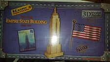 "B.C. Bones NEW YORK Empire State Building 3D Wooden Puzzle 35"" New Sealed Box!"