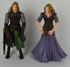 2003 Lord of the Rings Eowyn Sword Slash & In Armour Figures