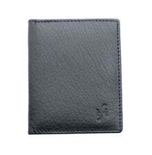 GNEUINE LEATHER ULTRA SLIM CREDIT CARD HOLDER MINI CARD CASE WALLET 105-BLACK