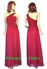 Size 6 8 10 12 Cherry Red Bridesmaids Evening Dress New