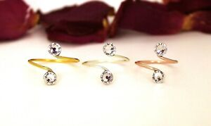 Adjustable Toe Rings Choose Your Finish With Clear Swarovski Crystal Elements