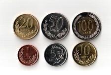 Set Albania Coins 1, 5, 10, 20, 50, 100 Leke, 2000, 2009, 2011, 2013. UNC