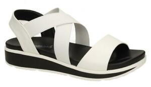 Ladies Savannah Wedge White Summer Sandals