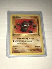 Geodude 47/62 Fossil 1st Edition Pokemon Card