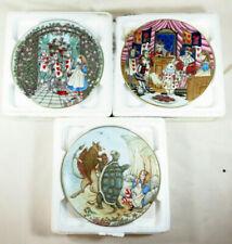 Lot of 3 George Boyer Limoges 1981 Alice In Wonderland Plates Sandy Nightingale