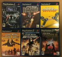 Star Wars PS2 PlayStation 2 Game Bundle x6 Battlefront Force Unleashed Bounty H