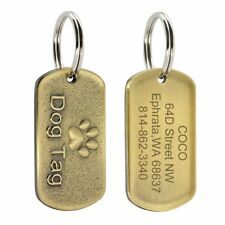 Dog Tag Personalized Engraved Pet Collar Accessories Custom Military ID Tags Pet