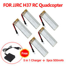 Spare Parts 3.7V 500mAh Lipo Battery+5in1 USB Chager for JJRC H37 RC Helicopter