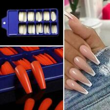 100Pcs/Set Candy Color Manicure Coffin Fake Nails Full Cover Nail False