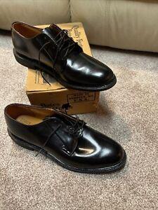 Bates Uniform Shoes Black Leather US Made Mens Size 12 C