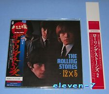 ROLLING STONES 12 x 5 Japan mini LP CD +Promo OBI