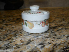 Wedgwood Quince Mustard Pot Condiment Jar Fruit Ring RARE