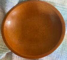 "Vintage Munising Wood Out of Round Dough Bowl Farmhouse Decor 10 1/2"" x 11 1/2"""