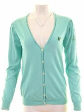 LYLE & SCOTT Womens Cardigan Sweater Size 16 Large Green Cotton  GR24
