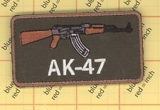 AK-47 ak47 AK 74 Tactical Army MORALE GUN Kalashnikov Russia USA PATCH bag vest
