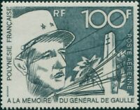 French Polynesia 1972 Sc#C88,SG159 100f de Gaulle Monument MNH