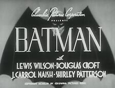 Batman - Classic Movie Cliffhanger Serial DVD Lewis Wilson