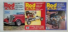 Street Rod Action Magazine 1976 - Lot of 3 -  Hot Rods & Customs