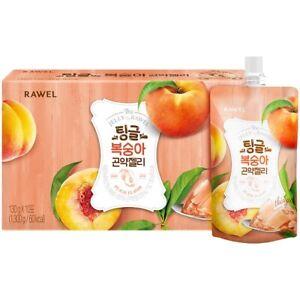 [RAWEL] Delicious Diet Konjac Jelly / Peach Flavor / Sugar Free /1Box (10Packs)