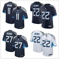Herren NFL Brown Henry George #11#22#27 Tennessee Titans American Fußball Trikot