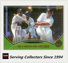 2001-02 Topps Gold Cricket Cards Record Breakers Card R16 Australia VS India