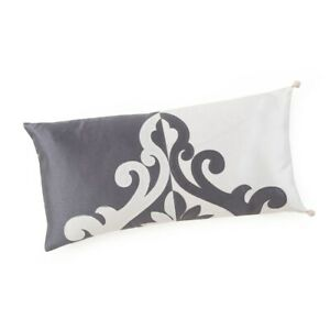 """MARQUIS by WATERFORD Oblong PILLOW Size 11 x 22"""" New SHIP FREE Reversible KATANA"""