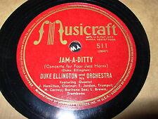 DUKE ELLINGTON jam a ditty, diminuendo in blue - 78 rpm - musicraft 511 -