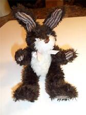 "1998 Hugfun INTL Bunny Jointed Plush Rabbit Dark Brown 10"" Tall Costco EASTER"