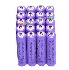 20 pcsx AAA 1800mAh 1.2V Ni-MH 3A color púrpura 3A recargable Batería