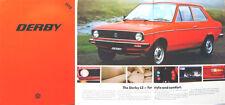 VW Volkswagen Derby LS 1978 Original UK Market Sales Brochure No. 783/119.008.25