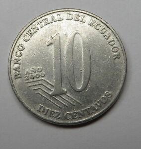 Ecuador 10 Centavos 2000 Steel KM#106