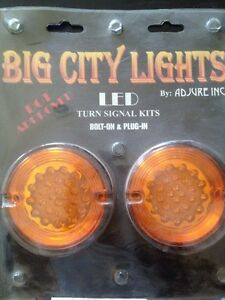 harley led turn signal lens light bulb  fxr dyna softail sportster 1 filament rr