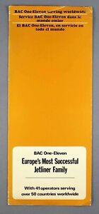 BAC ONE-ELEVEN 1-11 MANUFACTURERS BROCHURE TAE ZAMBIA LANICA LAKER BUA BEA LACSA