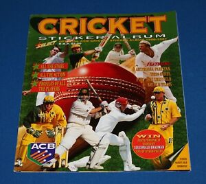 1997 Select Cricket Sticker Album Complete With All Stickers