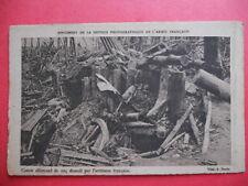 CANON ALLEMAND de 105 Démoli par l'Artillerie française.