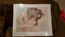 "Byron Brown original painting mixed media ""Homage to Mozart"" Signed dated"