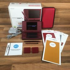 Nintendo DSi XL Console Wine Red Boxed Complete Charger Booklets Good Condition