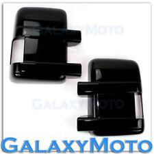 08-16 Ford Super Duty F250+F350+F450+Gloss Black Mirror w/Turn Light Hole Cover