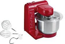 Robot de Cocina 500 W Capacidad de 3,9 litros  rojo Brazo multifunción Bosch
