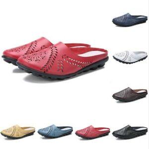 9 Colors Women Hollow Out Breathble Closed Toe Mules Slingbacks Summer Slipper