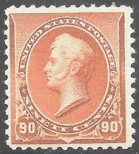 #229 VF MNH OG-90¢ Perry-FRESH STAMP-Great Gum WITH PF Certificate (REM #229-2)