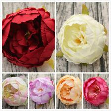 5/10pcs 10cm Artificial Peony Flower Heads Bouquet Wedding Home Decoration