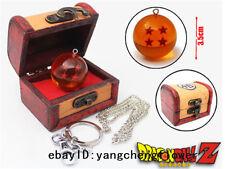 Anime Dragon Ball Z 4stars Key Necklace Pendant Chain+Box Cosplay Otaku Vintage