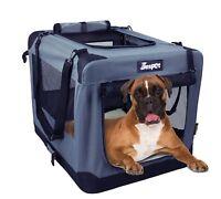 """26"""" Jespet Soft Dog Crates Kennel, 3 Door Soft Sided Folding Travel Pet Carrier"""