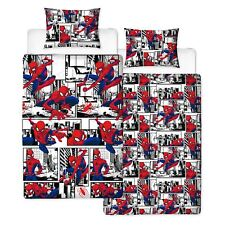 Spiderman Metropolis Single Duvet Cover Set Reversible Childrens Bedding