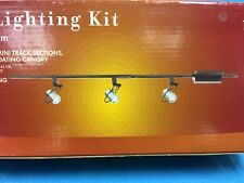 Portfolio 4' Halogen Mini Track Lighting Kit Nickel Flat Track 120870