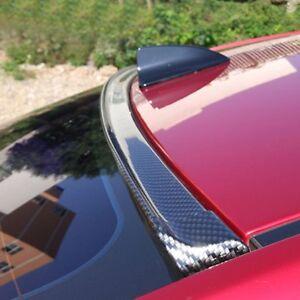 4.9ft 3D Carbon Fiber Car Rear Wing Lip Spoiler Tail Trunk Roof Trim Luxury Kit